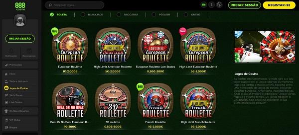 Roleta online de 888 casino